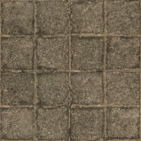 High resolution used stone block pavement 1 + normal map