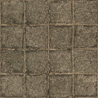 Low resolution used stone block pavement 1 + normal map