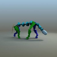 Heavy quadruped walk