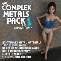 Complex Metals Pack, Volume 1 (Poser Edition)