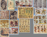 Mesoamerican Texture Pack 1 (Codices/Scrolls)