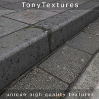 Pavement 01 - includes curbstones, gutter and road (HighRes)