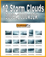 12 High-Res Storm Cloud Texture Pack
