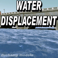 Water animated displacement map