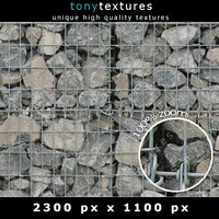 Gabion Stone Wall Element 02