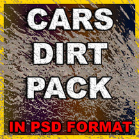 cars dirt pack in IN PSD FORMAT