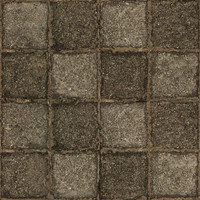 Medium resolution used stone block pavement 2 + normal map