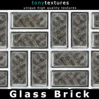 Glass Brick Wall 015