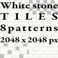 Tiles - White Stone - 8 Patterns