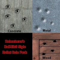 Half-Life2 Style Bullet Hole Pack