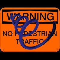 sign_warning_no_pedestrian_traffic.zip