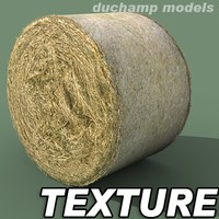 Hay round bale textures
