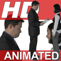 High Definition Animated People Textures - HD Group K Business