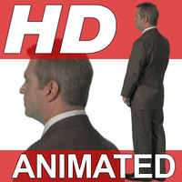 High Definition Animated People Textures - HD Roger Business
