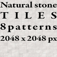 Tiles - Natural Stone - 8 Patterns