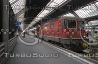 SBB-FFS TRAIN AT HAUPT BAHN-HOFF STATION PLATFORM A5