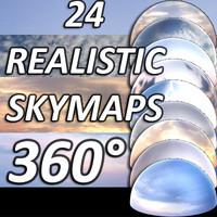 24 sky maps
