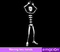 emo0005-Wave two hands