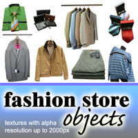 FASHION STORE OBJECTS