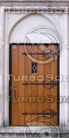 Medieval church door texture
