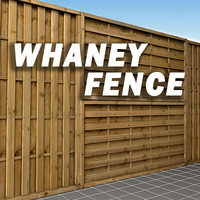 Waney Panel Fence High Resolution