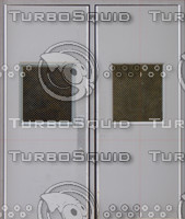 2 grey steel doors texture