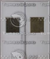 2 grey steel doors texture