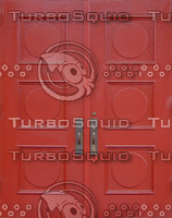 2 red wooden doors texture