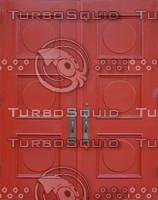 2 red wooden doors texture
