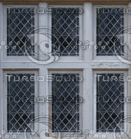 Old diamond pane windows