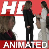 High Definition Animated People Textures - HD GroupB Business