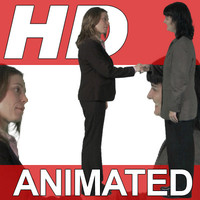 High Definition Animated People Textures - HD Group C Business