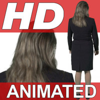 High Definition Animated People Textures - HD Julia Business