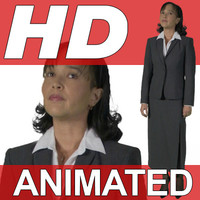 High Definition Animated People Textures - HD Kim Business