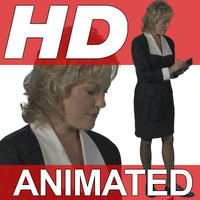 High Definition Animated People Textures - HD Steph Business