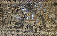 THAI ELEPHANT METAL MEDIUM