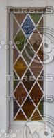 stained glass diamond window