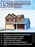 15 Siding materials - adjustable colors
