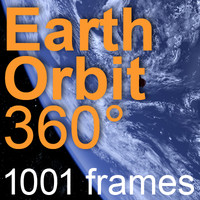 Earth Orbit 360° | 8000x4000 | 1001 frames