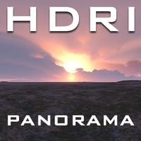 HDRI Panorama Tundra Sky