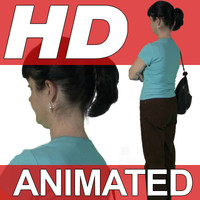 High Definition Animated People Textures - HD Kathy Casual