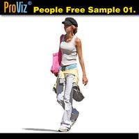 3dRender Pro-Viz People Free Sample 01.