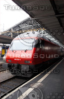 SBB RE460 LOCO RED AT LAUSANNE HAUPT BAHN-HOF