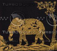 THAI GOLD FABRIC MASKING ARTS