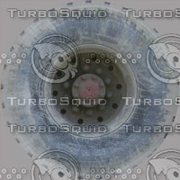 Truck Wheel and Tire Bitmap