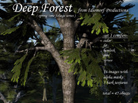 Idiomorf Deep Forest set-1 Conifers