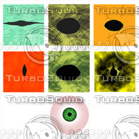 Animal and human eye texture