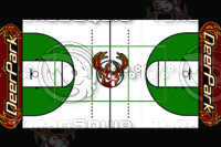 Deer Basketball Floor Design