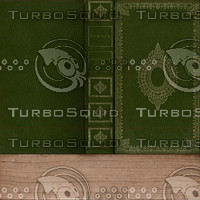 Green and Gold Book Texture