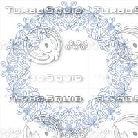 floral frame, 2200 x 2200